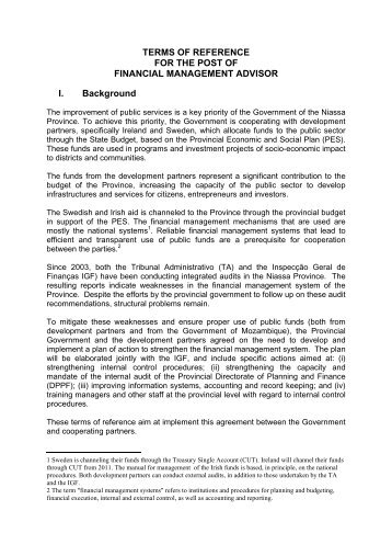 TERMS OF REFERENCE FOR THE POST OF ... - Sweden Abroad