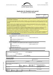 Application for Swedish work permit – for ... - Sweden Abroad