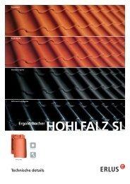 Technische details Ergoldsbacher HOHLFALZ SL - Erlus AG