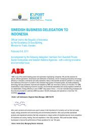 swedish business delegation to indonesia - Sweden Abroad