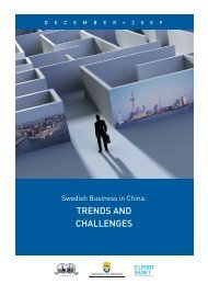 SwediSh BuSineSS in China: trendS and ... - Sweden Abroad