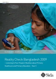 Reality Check Bangladesh 2009 - Sida