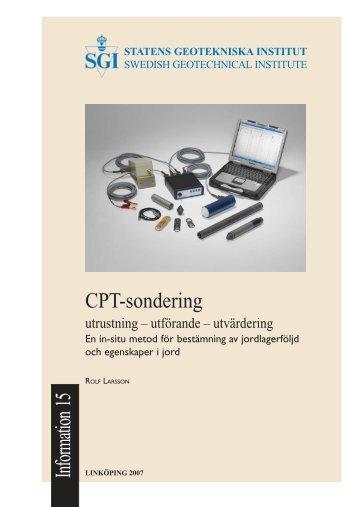 CPT-sondering - SGI. Swedish Geotechnical Institute