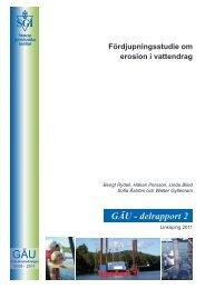 GÄU - delrapport 2 - SGI. Swedish Geotechnical Institute
