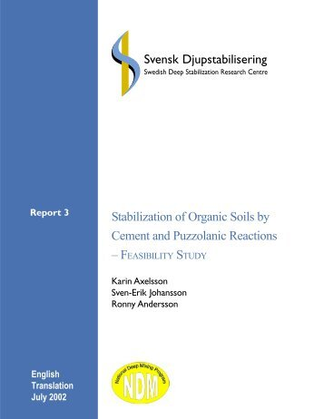 Stabilization of Organic Soils by Cement and Puzzolanic Reactions ...