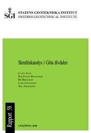 Skredriskanalys i Göta älvdalen - SGI. Swedish Geotechnical Institute
