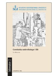 Geotekniska undersökningar i fält - SGI. Swedish Geotechnical ...
