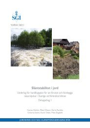 Släntstabilitet i jord - SGI. Swedish Geotechnical Institute