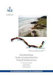 SGI Varia 554 - SGI. Swedish Geotechnical Institute