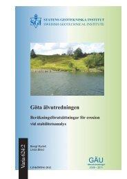 info - SGI. Swedish Geotechnical Institute