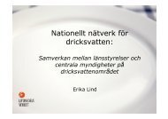 Erika Lind, Livsmedelsverket