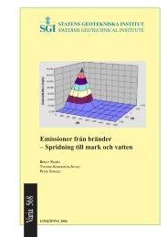Emissioner från bränder - SGI. Swedish Geotechnical Institute