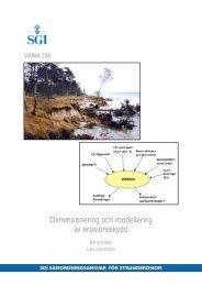 Dimensionering och modellering av erosionsskydd - SGI. Swedish ...