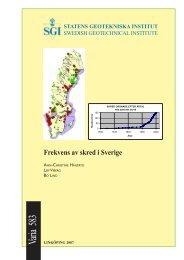 Frekvens av skred i Sverige - SGI. Swedish Geotechnical Institute