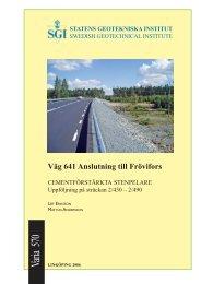Varia 570 - SGI. Swedish Geotechnical Institute