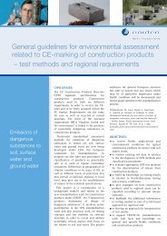 General guidelines for environmental assessment related to CE ...