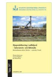 Djupstabilisering i sulfidjord - laboratorie - SGI. Swedish ...