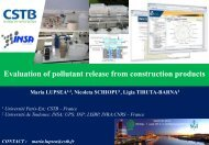Evaluation of pollutant release from construction products