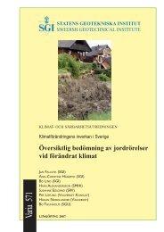 Översiktlig bedömning av jordrörelser vid förändrat klimat