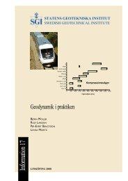 Geodynamik i praktiken - SGI. Swedish Geotechnical Institute