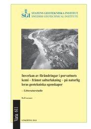 främst salturlakning - SGI. Swedish Geotechnical Institute