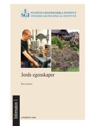 Jords egenskaper - SGI. Swedish Geotechnical Institute