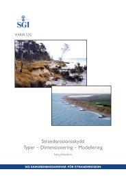 Stranderosionsskydd Typer – Dimensionering – Modellering