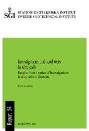 Report 54 - SGI. Swedish Geotechnical Institute