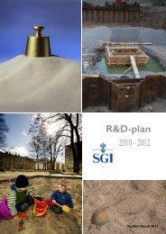 R&D-plan - SGI. Swedish Geotechnical Institute