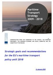 Maritime Transport Strategy 2009 - 2018