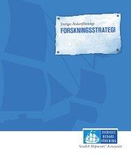 FORSKNINGSSTRATEGI - Sveriges Redareförening