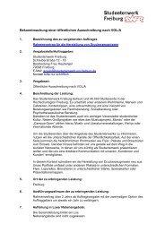 Rahmenvertrag für die Herstellung von Drucksachen