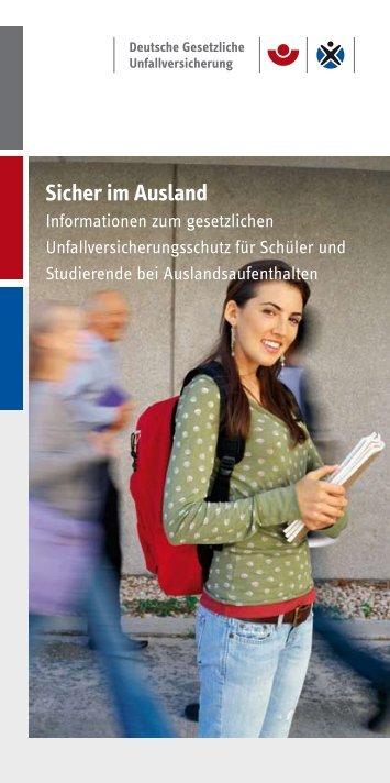 Sicher im Ausland - Informationen zum gesetzlichen ... - DGUV