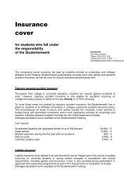 Insurance cover - Studentenwerk Freiburg