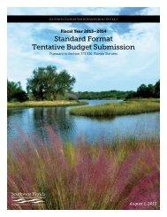 Standard Format Tentative Budget Submission - Southwest Florida ...