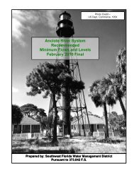 Anclote River System Recommended Minimum Flows and Levels ...
