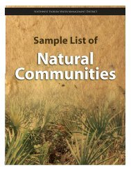 natural communities - Southwest Florida Water Management District