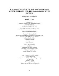 scientific review of the recommended minimum flows for - Southwest ...