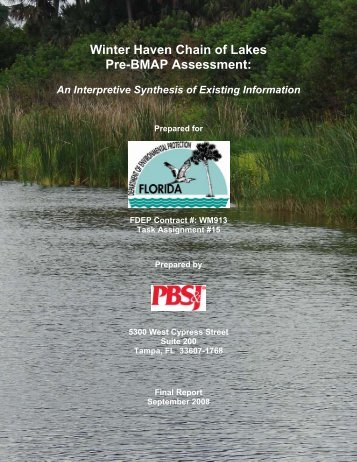 Winter Haven Chain of Lakes Pre-BMAP Assessment: - Southwest ...