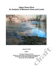 Upper Peace River An Analysis of Minimum Flows and Levels