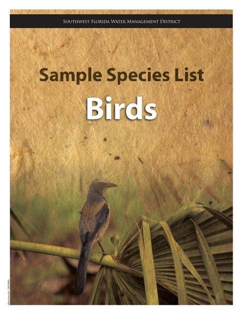 birds - cover sheet.ai - Southwest Florida Water Management District