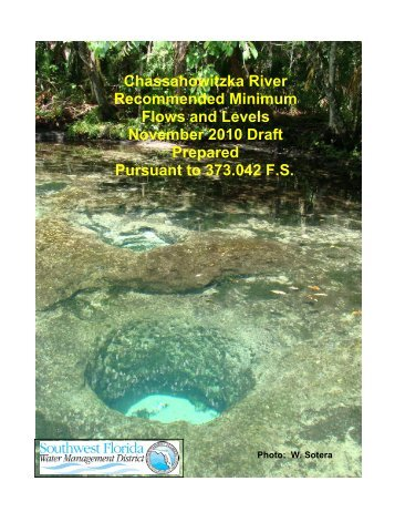 Chassahowitzka River Recommended Minimum Flows and Levels ...