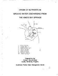 origin of nutrients in ground water discharging from - Southwest ...