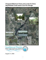 Proposed Minimum Flows and Levels for Dona Bay/Shakett Creek ...