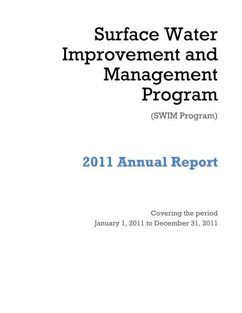 Surface Water Improvement and Management Program - Southwest ...