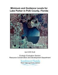 Minimum and Guidance Levels for Lake Parker in Polk County, Florida