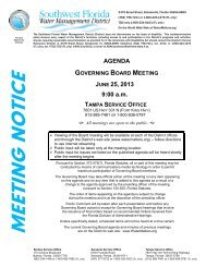 agenda - Southwest Florida Water Management District