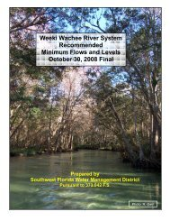 Weeki Wachee River System Recommended Minimum Flows and ...