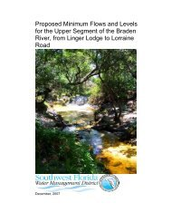 Chapter 1 Minimum Flows and Levels - Southwest Florida Water ...