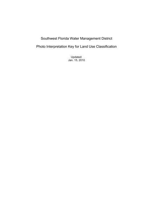 Photo Interpretation Key - Southwest Florida Water Management ...